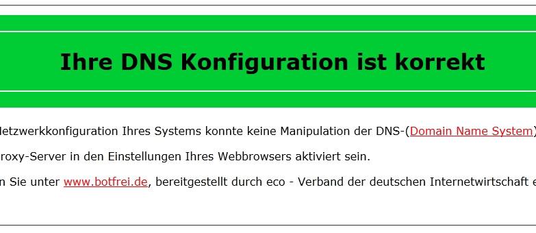 DNS Changer Test